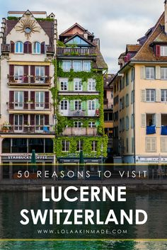– Is it worth visiting? Here are 50 visual reasons No two ways about it, the Swiss city of Lucerne is beautiful! Winter or summer, no matter the weather, Lucerne is one European city that needs to be added to your bucket list. Travel in Switzerland. Switzerland Summer, Switzerland Vacation, Lucerne Switzerland, Switzerland Tour, Cool Places To Visit, Places To Travel, Travel Destinations, European Destination, European Travel