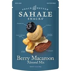 Sahale Snacks, Berry Macaroon Almond Mix, 7 oz g) iherb Dried Blueberries, Dried Apples, Roasted Cashews, Roasted Almonds, Macaroon Cookies, Macaroons, Raspberry Crumble, Los Angeles Food, Food Packaging Design