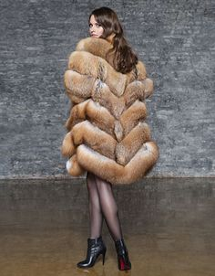 V cool fox fur coat