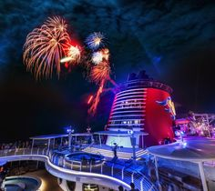 I caught these fireworks shot off the top of the #Disney cruise ship #Fantasy. from #treyratcliff at http://www.StuckInCustoms.com - all images Creative Commons Noncommercial