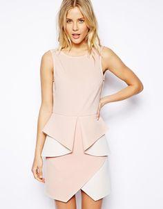 Agrandir ASOS - Mini robe non tissée effet origami