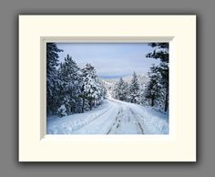 Colorado Winter Mountain Road Photo by JulieMagersSoulen