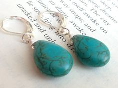 River Wirewrapped Turquenite Stone Dangle by PorcupineHill on Etsy, $20.00