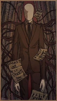 Slenderman is the very first creepypasta I heard about by my Stepsis. She knows nothing about CreepyPasta, but she knows about Slender. First time I heard of him, I literally shook in my bed that night(We were camping)! Slender Man, Jeff The Killer, Creepypasta Slenderman, Creepy Pasta Family, Laughing Jack, K Wallpaper, Creepy Stories, Creepy Art, Dark Fantasy Art