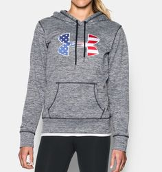 Under Armour Women's UA Armour Fleece Big Flag Logo Hoodie, Available at Under Armour Outfits, Nike Under Armour, Under Armour Shoes, Under Armour Women, Sporty Outfits, Urban Outfits, Athletic Outfits, Tactical Hoodie, Under Armour Sweatshirts