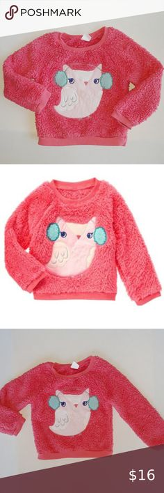 NWT Gymboree Ice Dancer Snowflake Pullover Top Purple Fuzzy Toddler Girl