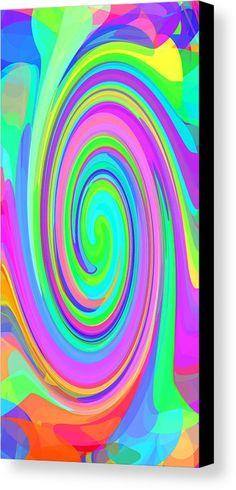 Whirl 6 Canvas Print by Chris Butler.  #art #swirl #abstract #artdeco #design #interior #home #Decor #wall #modern #contemporary #homedecor #abstractart #interiordesign #whirl #wave #vibrant #vivid #designer