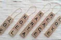 Scrabble Tile Ornament