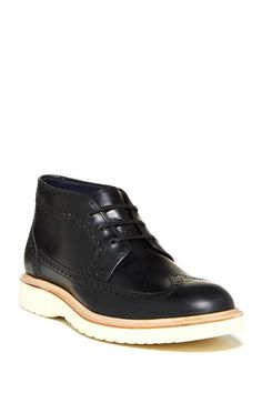 Martin Chukka by Cole Haan in black with white sole
