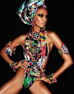 blackfashionstars:  Joan SmallsbyMario Testinofor Vogue Paris April 2013.