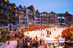 Lake Tahoe North Star ski resort ice skating rink.