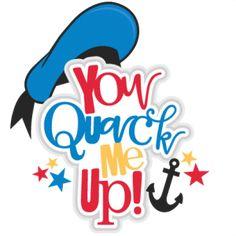 You Quack Me Up Title SVG scrapbook cut file cute clipart files for silhouette cricut pazzles free svgs free svg cuts cute cut files