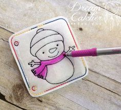 ITH Snowman Felt Coloring Page Embroidery Design | Dreamcatcher Designs