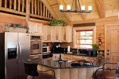 392 Best Log Cabin Kitchens Images On Pinterest Log Cabin Kitchens