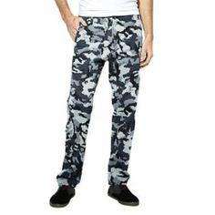 Levis mens Black Grey slim taper camo Black Camo Pants, Black And Grey, Pajama Pants, Sweatpants, Slim, Men, Clothes, Style, Kleding