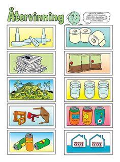 Miljö – Bamse.se Earth Hour, Science Lessons, Kids Education, Social Studies, Recycling, Preschool, Teacher, Activities, Math
