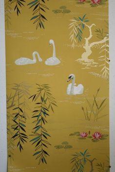 Osborne & Little - Nina Campbell - Swan Lake Wallpaper - 10m roll - Wallpaper - Nature - Wallpaper & Decor