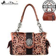 Montana West Floral Concho Concealed Carry Handbag (MW180-8085)