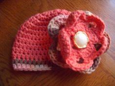 Crochet Baby Beanie with Flower