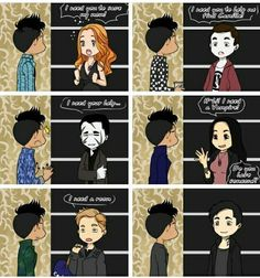 Magnus Bane is need by everyone   Clary Simon Raphael Isabelle Jace Alec   TMI Shadowhunters (TV Show)