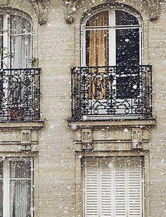 ♔ Paris in the snow