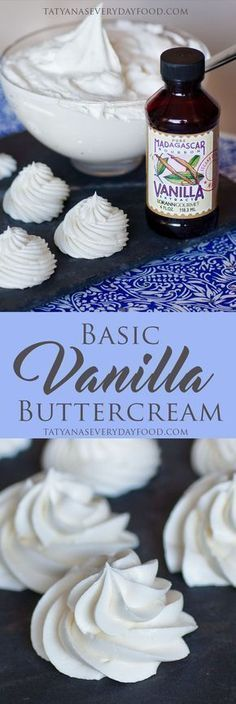 Vanilla Buttercream Recipe (video) The only buttercream recipe you'll ever need - fluffy and sweet frosting, perfect for piping! View Recipe LinkThe only buttercream recipe you'll ever need - fluffy and sweet frosting, perfect for piping! Vanilla Buttercream Frosting, Cake Icing, Icing For Cupcakes, Basic Buttercream Recipe, Fluffy Frosting Recipes, Wedding Cake Frosting, Cake Frosting Recipe, Frosting Tips, Cupcake Frosting