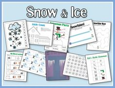Is it too cold to venture outside? Does your area stay too warm for snow? Don't let the temps outside keep your kiddos from having some wintry fun. Grab these FREE Snow & Ice printables for your preschooler and tot.