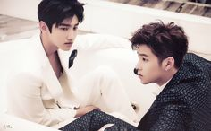 tvxq Changmin & Yunho / I can get over how good Changmin looks in a white suit ❤
