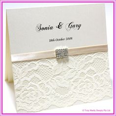 diy wedding invitations | DIY Invitations Lace : Do It Yourself Wedding Invitation - Lace ...