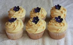 My Trademark Classic Lemon Cupcakes with Dainty Flower Charms