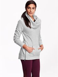 Women's Fleece Cowl-Neck Tunic #oldnavy (A cozy, yet slightly more classy, version of a sweatshirt.)