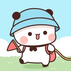 Cute Panda Cartoon, Cute Couple Cartoon, Cute Cartoon Pictures, Cute Love Cartoons, Cute Profile Pictures, Cute Bear Drawings, Cute Animal Drawings Kawaii, Cute Cartoon Drawings, Chibi Anime