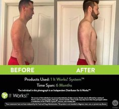 The It Works System! Check out these results after ONLY 6 months!!