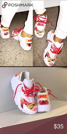 Customized huaraches These are customized | Worn for a whole season | Looks worn & the detail on the back is pealed | You may text me for more pics 3129521811 | Size 7 but feels like a 6 Huaraches Shoes Sneakers