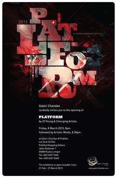 PLATFORM is a group show featuring 23 young and emerging artists under one roof. It provides these talented souls a stage to break into the local art scene. Artworks exhibited range from canvas paintings to print works, architectural sketches, ceramics, fabric installation, including wood and metal sculptures.    Come by Galeri Chandan,Publika from 8th to 21st March to catch PLATFORM!