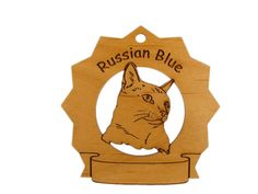 7339 Russian Blue Cat Personalized Wood by gclasergraphics on Etsy, $9.95