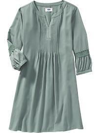 Pintucked Boho Dress