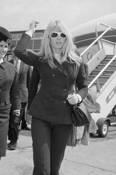 Bridgett Bardot Iconic Travel Style 1966 - Jet Set Airport Style - Harper's BAZAAR