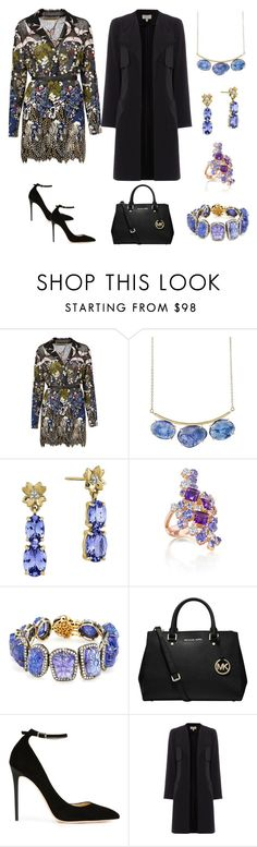 """""""The Garden"""" by karen-galves ❤ liked on Polyvore featuring Valentino, Lulu Designs, Amrapali, Michael Kors and Jimmy Choo"""