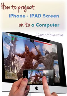 How to project iPhone iPad screen onto a computer -- so it is easy to share a movie or to share a project with family or a group of students in the classroom Teaching Technology, Assistive Technology, Educational Technology, Apple Tv, Computer Lab, Computer Technology, Multimedia, Diy Electronics, Apple Products