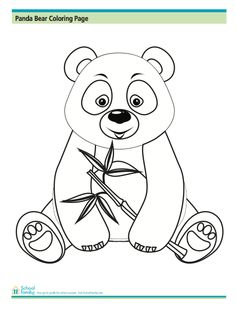 Panda Bear Coloring Page from SchoolFamily.com