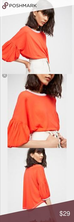 Free People Orange Blouse Brand new. Orange color. Free People Tops Tees - Short Sleeve