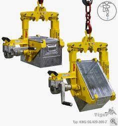 Kasten-Wendegreifer -Drehwerk zur Kran-Entleeren von Lagerkästen