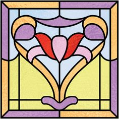 Art Deco Design 12|Art Deco Stained Glass|Stained Glass Film ...