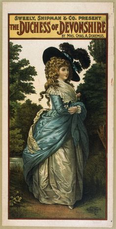 Apparently, the Duchess of Devonshire had an illegitimate daughter fathered by the second Earl Grey. Tea scandals!