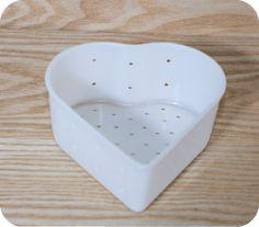 Heart shaped cheese mold