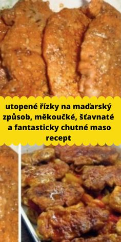 utopené řízky na maďarský způsob, měkoučké, šťavnaté a fantasticky chutné maso recept Food 52, Food And Drink, Pork, Yummy Food, Beef, Cooking, Meat, Pork Roulade, Cucina