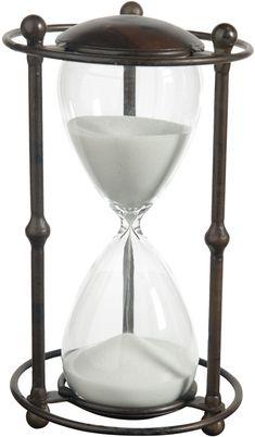 Fashion 20mins Silver Lid Purple Sand Hourglass Sandglass Home Table Decor