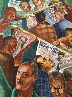 """Detail from """"Library"""" mural Coit Tower. North Beach, SF, CA Zippertravel.com Digital Edition Coit Tower San Francisco, North Beach San Francisco, William Saroyan, Murals Street Art, Travel Light, In This Moment, Detail, Digital, Painting"""
