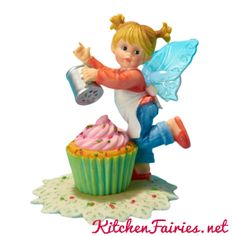 Christmas Cupcake Fairie - From Series Thirty Two of the My Little Kitchen Fairies collection